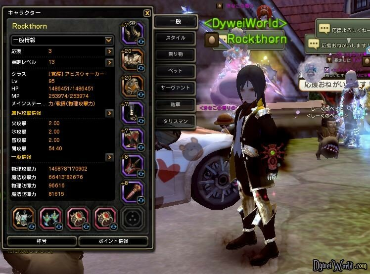 Dragon Nest Abyss Walker Stats